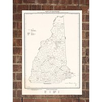 Vintage New Hampshire Print, Aerial New Hampshire Photo, Vintage NH Pic, Old New Hampshire Photo, New Hampshire Poster, 1971