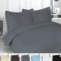 Duvet Cover for a Duvet Insert Comforter, Queen Size, Gray Charcoal Solid Color, 100% Double Brushed Microfiber Fabric 1800 Series Luxury Bedding Collection, Hypoallergenic, Most Cozy Comfortable Bedroom Set on Amazon, Basic 3-Piece Set Includes Silky Soft