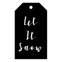 Black and White Let it Snow Holiday Gift Tags