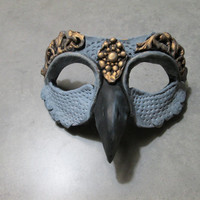 Grey Gull mask, one of a kind, masquerade mask, costume mask, fantasy, guardian, creature mask