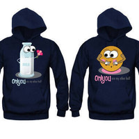 Only You Are My Other Half Milk and Cookie Unisex Couple Matching Hoodies