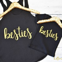Mommy and Me Outfit, Besties Tanks