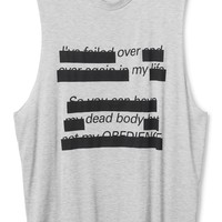 Weekday | New Arrivals | Morgan XL tank Over my text