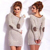 Winter Long Sleeve Round Collar Sweater pullover