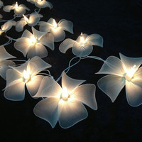 Handmade White flower string lights for Patio,Wedding,Party and Decoration (20 bulbs) = 1931953220