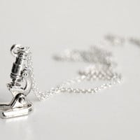 She Blinded Me with SCIENCE- Tiny Microscope Necklace