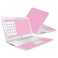 Skin Decal Wrap for HP Chromebook 14 (2014) Cover Skins Solid Pink