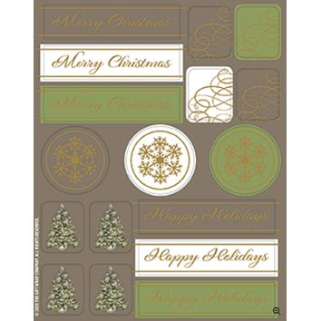 Christmas Tree Scrolls Boxed Cards - 15 Pack