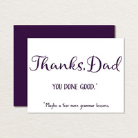 Printable Father's Day Card / Funny Father's Day Card / Thanks Dad You Done Good A2 Printable Card / Card for Dad / Simple Father's Day Card