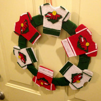 Minnesota Wild Jersey Wreath *GIFTS FOR HIM*