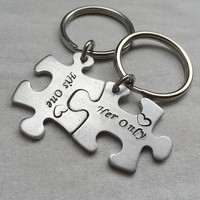 Personalized Gift for couples, personalized keychains, Personalized jewelry, customized mens Gift, His one her only, boyfriend, girlfriend