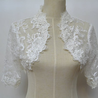 Lace Wedding Three Quarter Sleeve Wedding Jacket