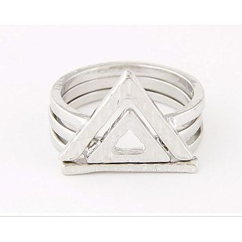 AVA - Aztec Triple Ring Set