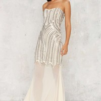Adriana Beaded Maxi Dress