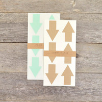 Large Kraft Arrow Stickers - 18 pc