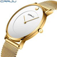 CRRJU New Design Men Sprot Watch Business Waterproof Simple Gift Wrist Watches Male Relogio Masculino Men UTC ultra-thin Clock