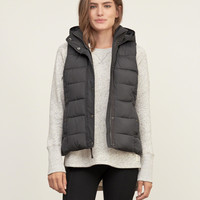 A&F Hooded Puffer Vest