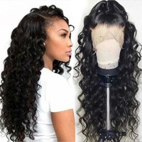 Loose Wave Wig Brazilian Lace Front Human Hair Wigs For Women With Black Pre Plucked Bleached Knots Lace Front Wig Full End Remy