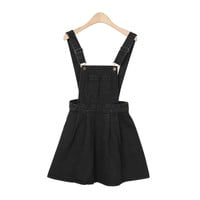 Girlish Black Suspender Skirt