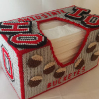 Ohio State Buckeyes Puffs Tissue Box Cover