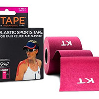 KT Tape Kinesiology Tape, Original Cotton Elastic Therapeutic Tape, 16-Feet, Uncut Roll, Pink