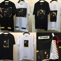 Off White T shirt Men Women 1:1 High Quality Religion Jesus Our Lady Off White Abloh Virgil Tees T-shirt Off White T shirt