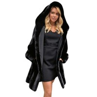 Europe Style Women Long Faux Fur Coat Fashion Ladies Faux Fur Warm Jacket Women Fur Coats Gilet Pelliccia Outerwear #10