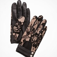 LACE TOP LEATHER DRIVING GLOVES
