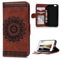 """iPhone 6S/6 Case (4.7""""), [NOT for iPhone 6S Plus], YOKIRIN PU Leather Dream Catcher 3D Relief Embossed Folio Flip Wallet Cover with Credit Card Holder Kickstand Magnetic Closure for iPhone 6/6S,Brown"""