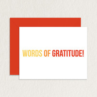 Words of Gratitude A2 Printable Greeting Card / Printable Thank You Card / Funny Thank You