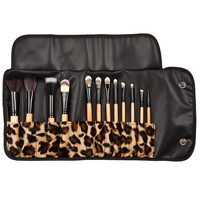 12pcs Professional Brush Eyeshadow Eyebrow Cosmetic Tool Brushes Leopard Powder Concealer Fashion Beauty Makeup Tools