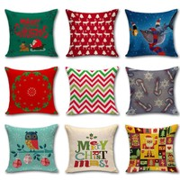"""18"""" Merry Holidays Themed Cushion Covers"""