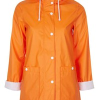 Plastic Hooded Rain Mac - New In