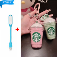 2in1 5200mAh Cartoon Starbuck Power Bank  Portable Power Bank