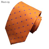 New Polyester silk tie colored dots wave point men's tie