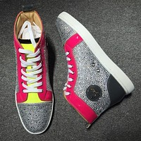 Christian Louboutin CL Rhinestone Style #1931 Sneakers Fashion Shoes Online