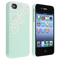 Generic MC0099 Cell Phone Case for iPhone 4/4g/4s - Non-Retail Packaging - Blue