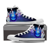 Bowling Themed High Top Shoes