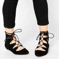 Truffle Collection Nicky Ghillie Flat Ankle Boots