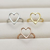 Simple Small Heart Ring