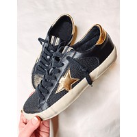 Penny Black Sneaker with Gold Star