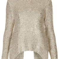 **Alex Gold Flake Knitted Jumper by Jovonnista - New In This Week - New In - Topshop USA