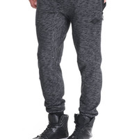 Quilted Nylon Knee Detail Jogger by Shades of Black