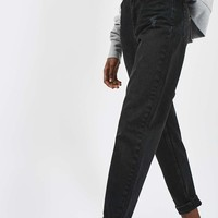MOTO Washed Black Mom Jeans