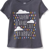 Graphic Scoop-Neck Tee for Toddler Girls | Old Navy