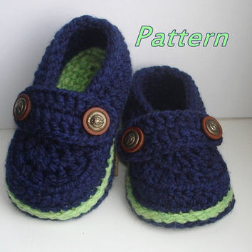Easy Crochet Pattern Baby Loafers, Baby Booties Crochet PATTERN,  Crochet Booty for boy and girl, Crochet Baby Shoes Pattern N.107