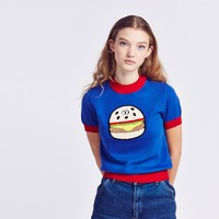 Lazy Oaf Burger Knit Jumper - Clothing - NEW IN - Womens