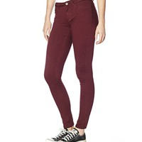 Velvet Burgundy High Waist Jegging