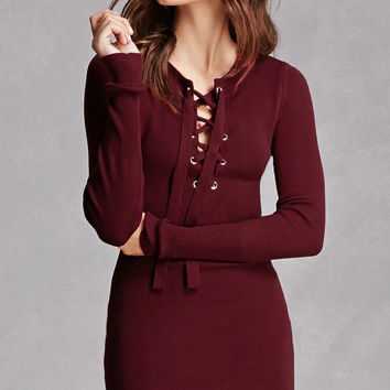 Hera Collection Lace-Up Dress