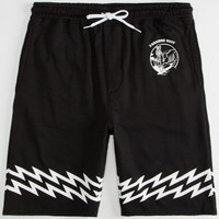 Neff Paradise Mens Sweat Shorts Black  In Sizes